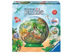Ravensburger Puzzle 3D Zeměkoule dinosauři puzzleball 108 dílků