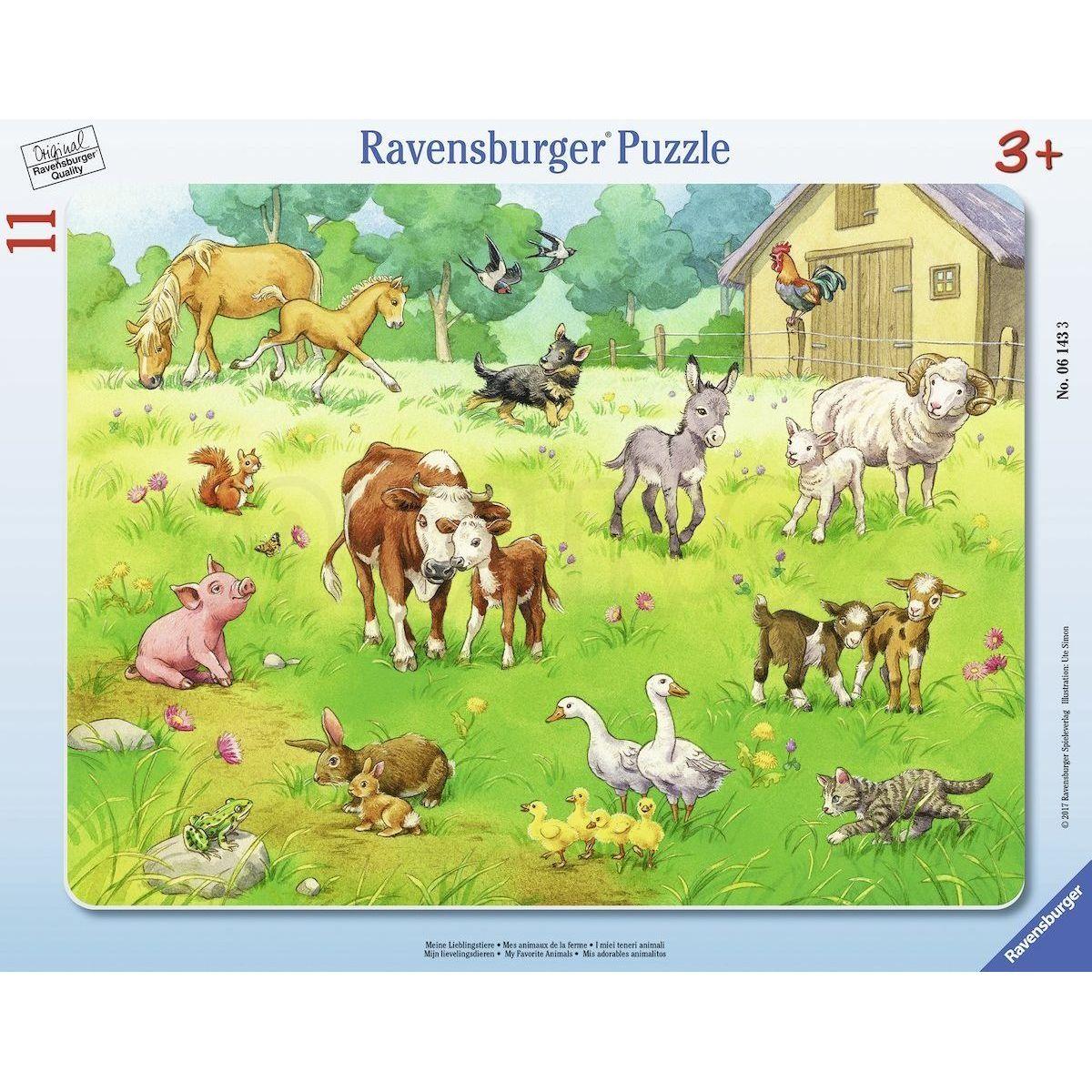 ravensburger puzzle 61433 moje oblíbená zvířata 11 dílků maxíkovy