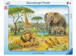 Ravensburger Puzzle 61464 Africký svět zvířat 30 dílků