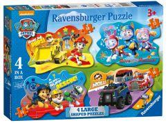 Ravensburger Puzzle 69347 Tlapková Patrola 4 v 1 tvarové puzzle