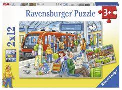 Ravensburger Puzzle 76116 Všichni na palubu! 2x12 dílků