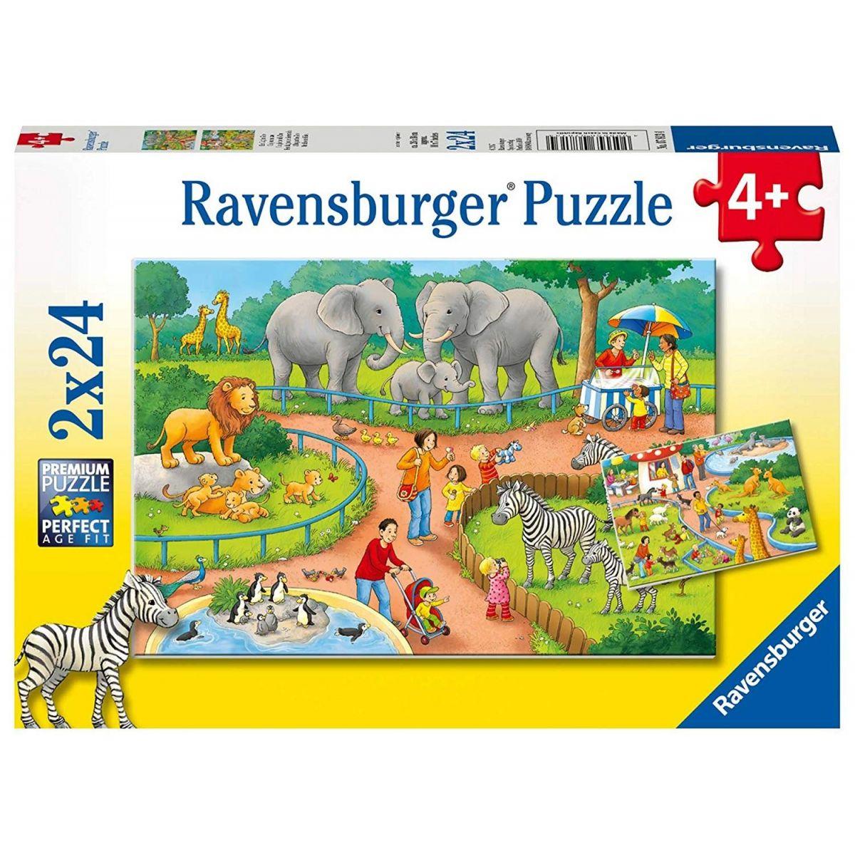 Ravensburger Puzzle 78134 Den v zoo 2x24 dílků