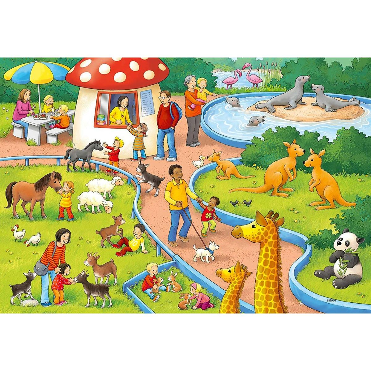 Ravensburger Puzzle 78134 Den v zoo 2x24 dílků #2