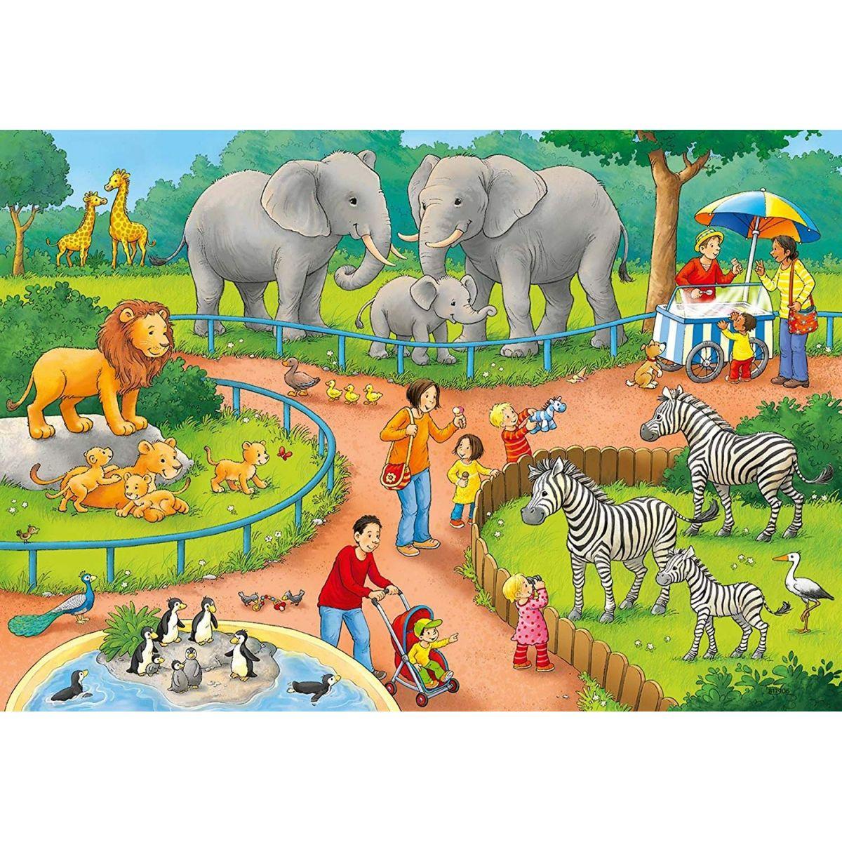 Ravensburger Puzzle 78134 Den v zoo 2x24 dílků #3