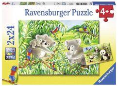 Ravensburger Puzzle 78202 Sladké koaly a pandy 2x24 dílků