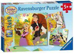 Ravensburger Puzzle 80243 Disney Na Vlásku 3x49 dílků