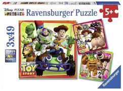 Ravensburger Puzzle 80380 Toy Story historie hraček 3x49 dílků