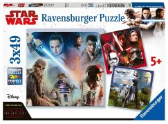 Ravensburger Puzzle 80397 Disney Star Wars Epizoda VIII 3x49 dílků