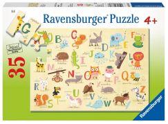 Ravensburger Puzzle 87617 A Z zvířata 35 dílků