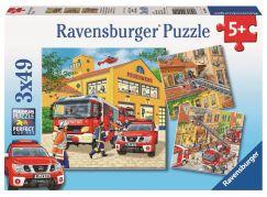 Ravensburger Puzzle 94011 Hasiči 3x49 dílků