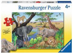 Ravensburger Puzzle 96008 Safari zvířata 60 dílků