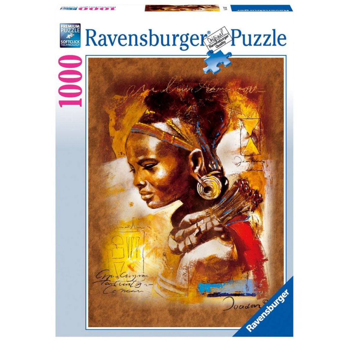 Ravensburger Puzzle Africká krása 1000 dílků