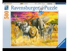 Ravensburger puzzle Africká zvířata 500 dílků