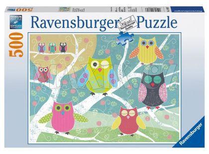 Ravensburger Puzzle Barevné sovy 500 dílků