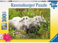 Ravensburger Puzzle Bílí koně 300 dílků