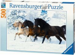 Ravensburger puzzle Cval ve sněhu 500 dílků