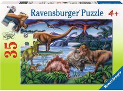 Ravensburger puzzle Dinosauří hřiště 35 dílků