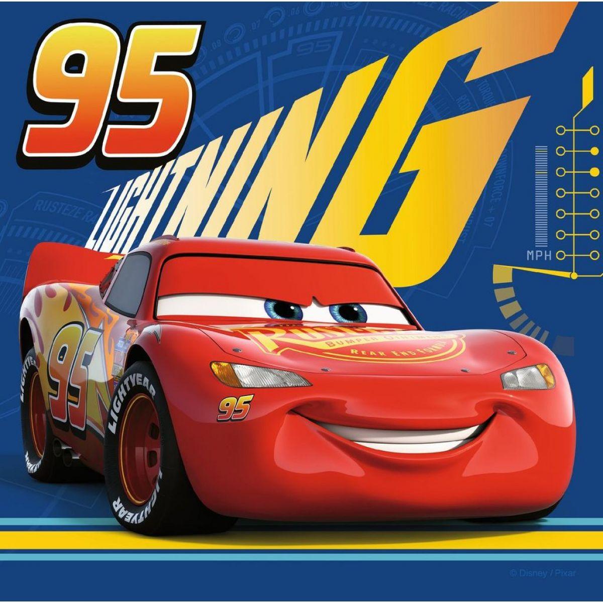 Ravensburger Puzzle Disney 69262 Auta 3 mini memory + puzzle 25,36,49 dílků #2