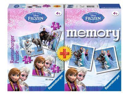 Ravensburger Puzzle Disney Ledové království 3v1 + pexeso