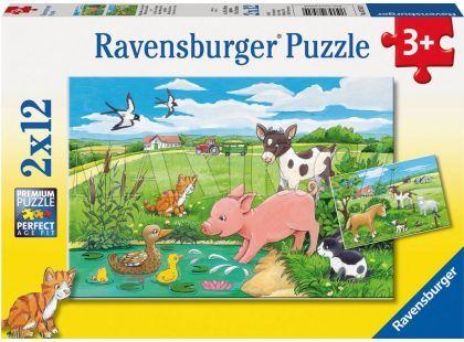 Ravensburger Puzzle Domácí zvířátka 2x12 dílků