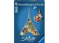 Ravensburger puzzle Eiffelova věž silueta 960 dílků