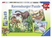 Ravensburger Puzzle Fascinující dinosauři 3x 49 dílků