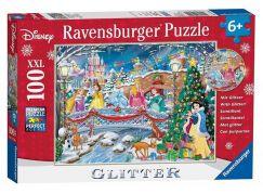Ravensburger Puzzle Glitter 107940 Disney Princezny: Vánoce 100 dílků