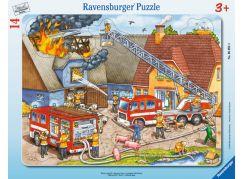 Ravensburger puzzle Hasiči při práci 14 dílků