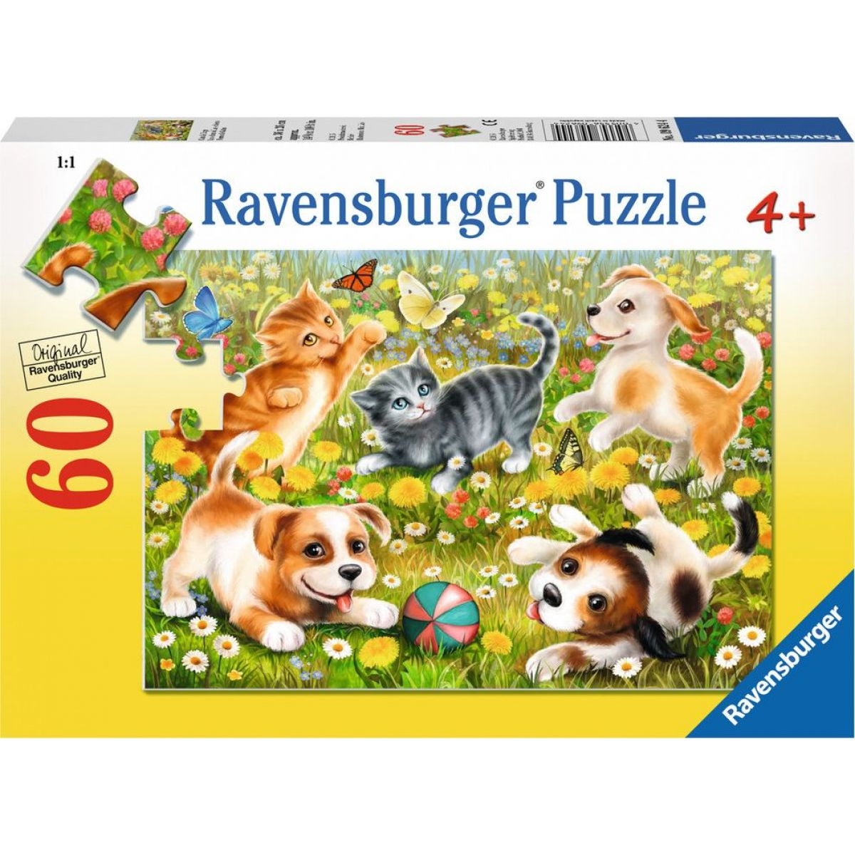 Ravensburger puzzle Kočky a psi 60 dílků