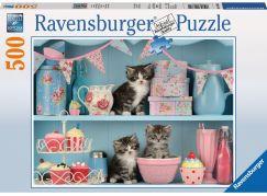 Ravensburger Puzzle Kočky v kredenci 500 dílků