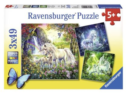 Ravensburger Puzzle Krásný Jednorožci 3x 49 dílků