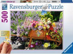 Ravensburger puzzle Květinová dekorace 500 velkých dílků
