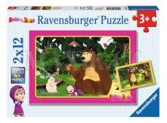 Ravensburger Puzzle Máša a medvěd 2 x 12 dílků