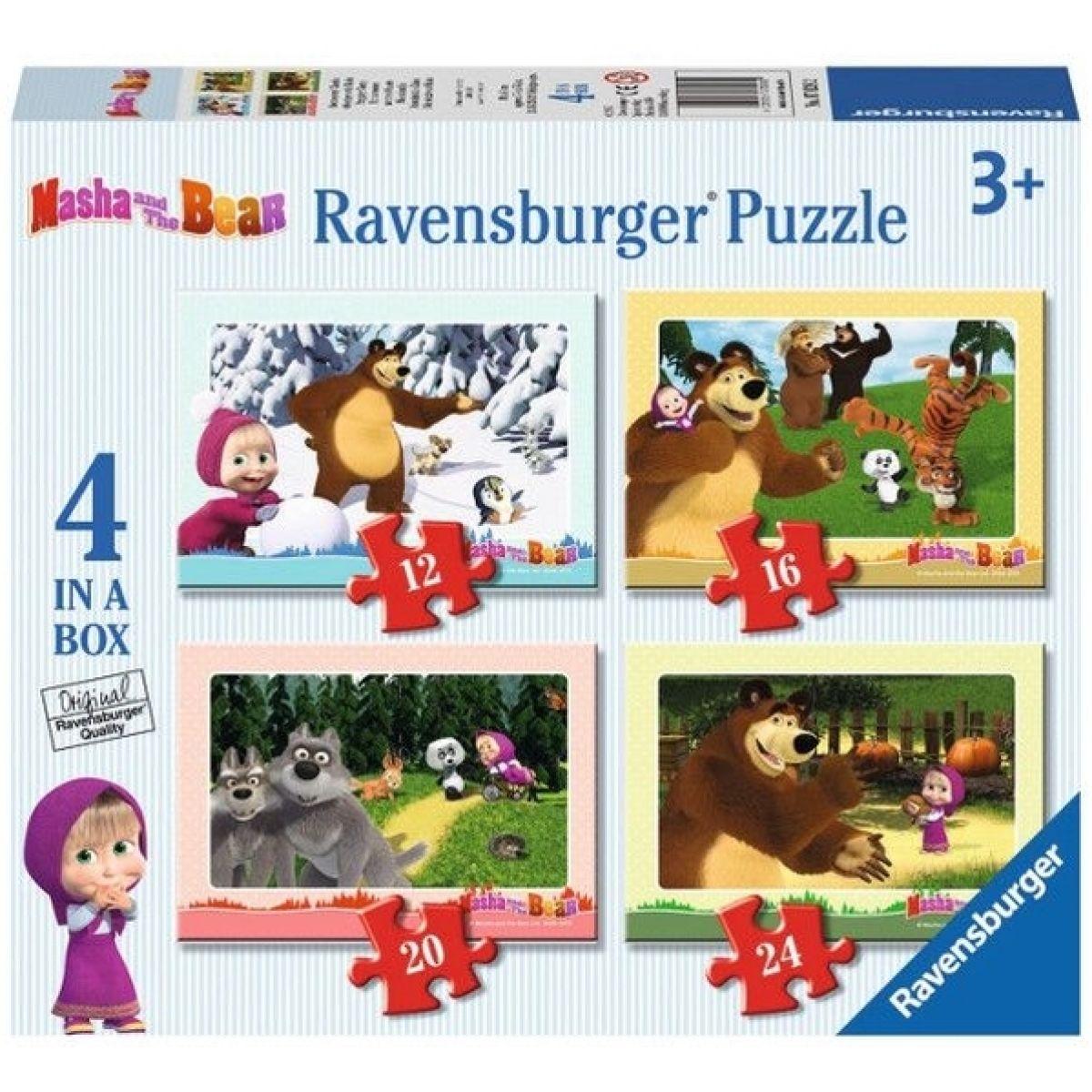 Ravensburger Puzzle Máša a medvěd 4v1
