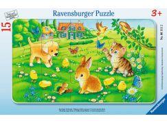 Ravensburger puzzle Miloučká mláďata 15 dílků