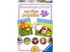 Ravensburger Puzzle Miloučká zvířata 9x2 dílků