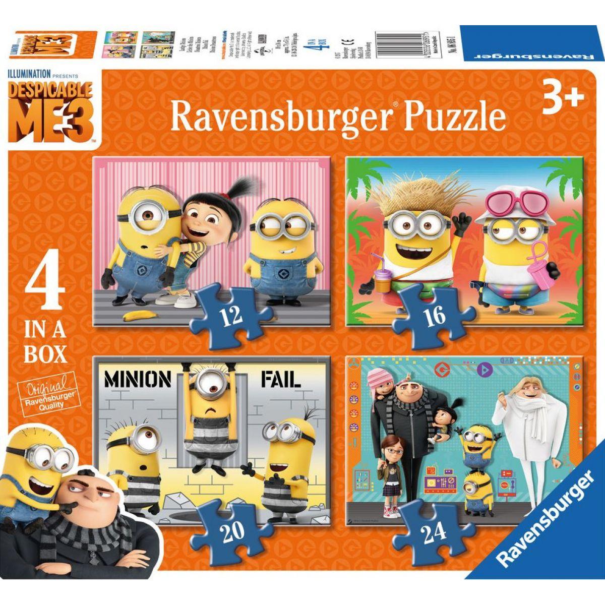 Ravensburger puzzle Mimoňové: Já Padouch 3 - 12,16,20,24 dílků