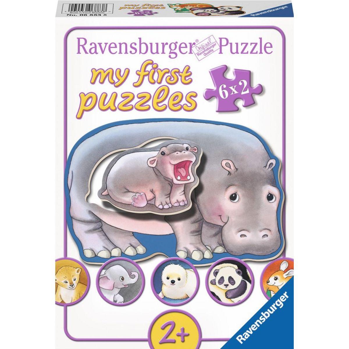 Ravensburger puzzle Mláďata 6x2 dílků