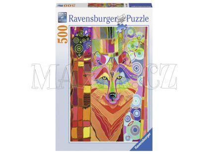 Ravensburger Puzzle Mystický vlk 500 dílků