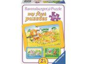Ravensburger puzzle Opice, slon a lev 3x6 dílků