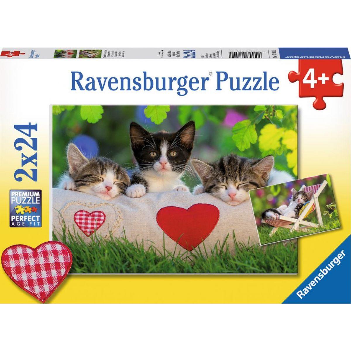 Ravensburger puzzle Ospalá koťátka 24 dílků