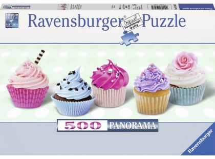 Ravensburger Puzzle Panorama Sladké muffiny 500dílků