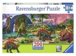 Ravensburger Puzzle Panorama V zemi dinosaurů 200 dílků