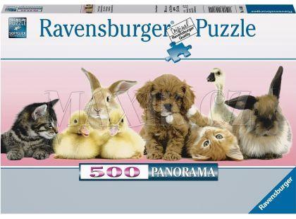 Ravensburger Puzzle Panorama Zvířecí přátelé 500dílků