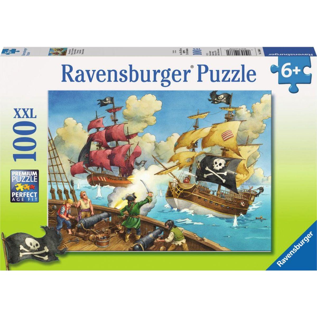 Ravensburger puzzle Pirátská loď 100 dílků