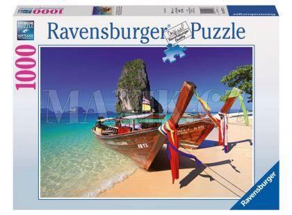 Ravensburger Puzzle Pláž s lodí 1000 dílků