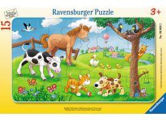 Ravensburger puzzle Plyšoví zvířecí kamarádi 15 dílků