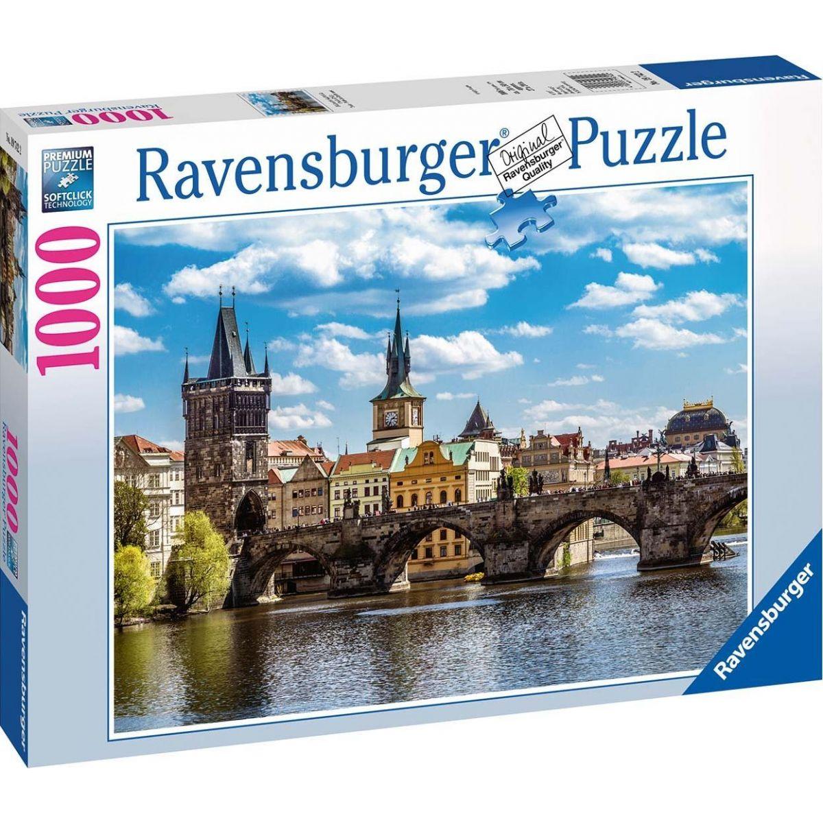 Ravensburger Puzzle Pohled na Karlův most 1000 dílků