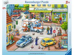 Ravensburger puzzle Pohotovost ve městě 10 dílků