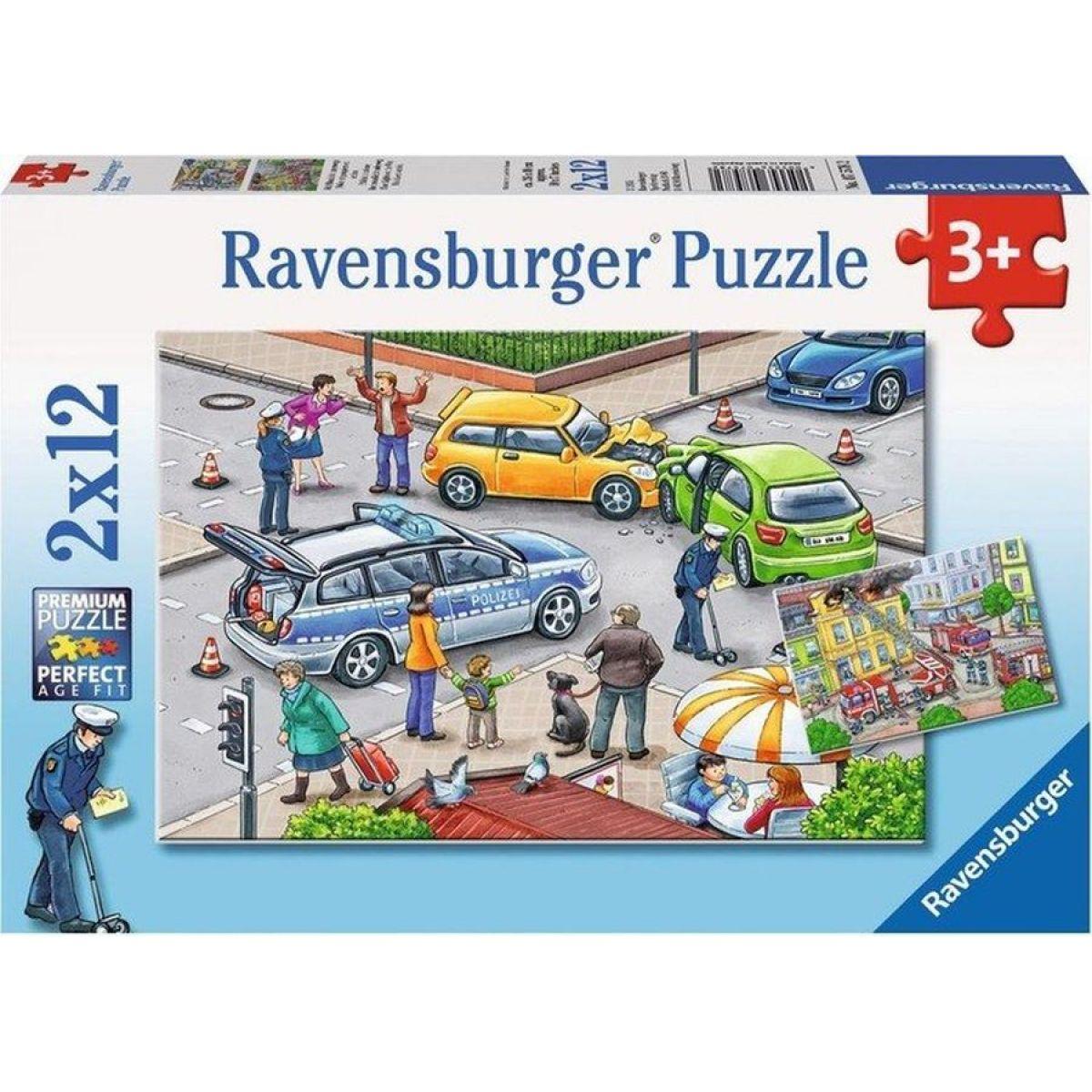 Ravensburger Puzzle Policie a hasiči 2x12 dílků